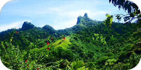 >>> a jagged peak inland at Matavera / photo © cookislands.com