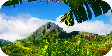 >>> Ikurangi mountain 485 metres / photo © cookislands.com