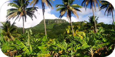 >>> Raemaru mountain in Arorangi 360 metres / photo © cookislands.com
