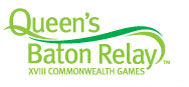 Queen Baton Relay Logo for the 18th Commenwealth Games in Melbourne / Australia - on click to photo gallery of countries visited